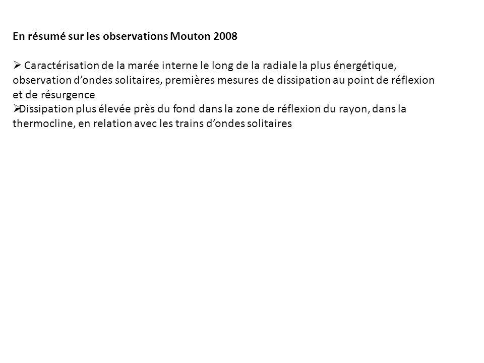 En résumé sur les observations Mouton 2008