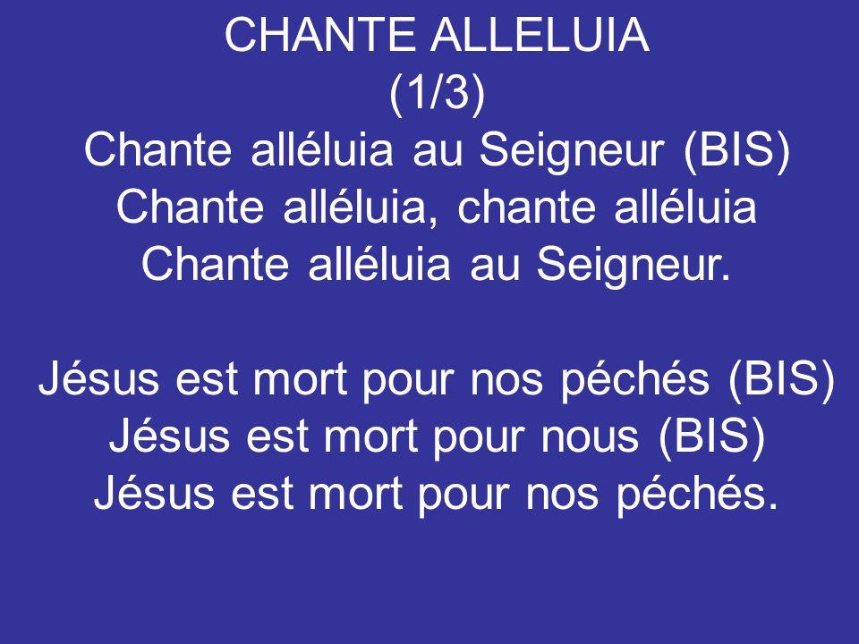 Chante alléluia au Seigneur (BIS) Chante alléluia, chante alléluia