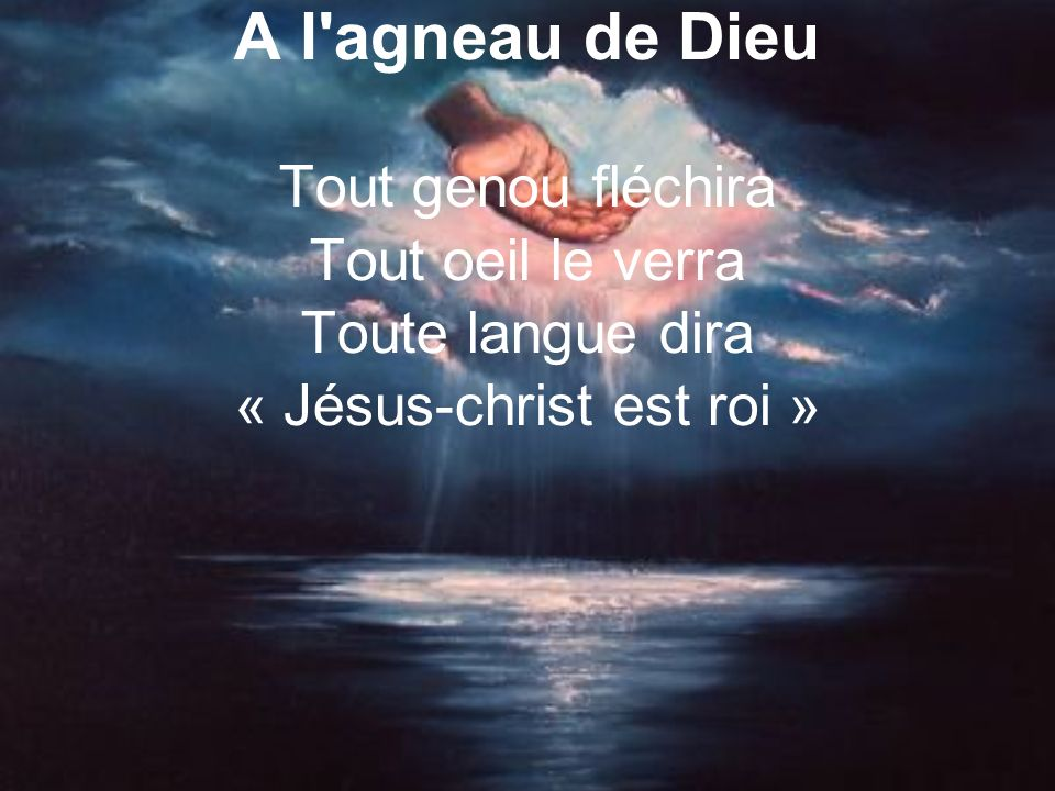 « Jésus-christ est roi »