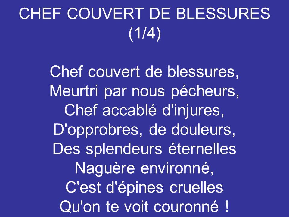 CHEF COUVERT DE BLESSURES