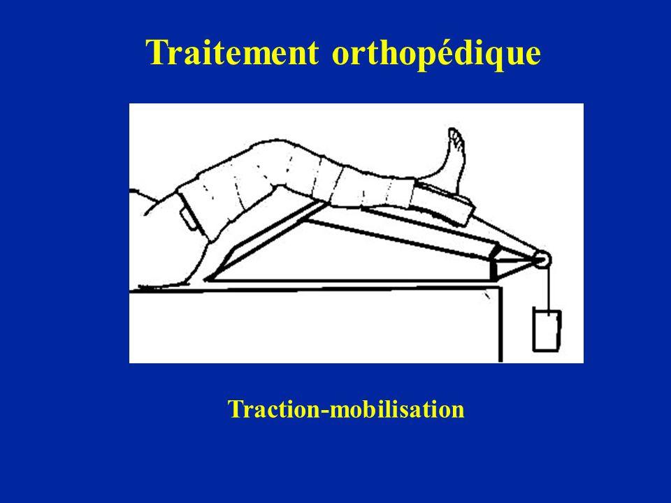 Traitement orthopédique Traction-mobilisation