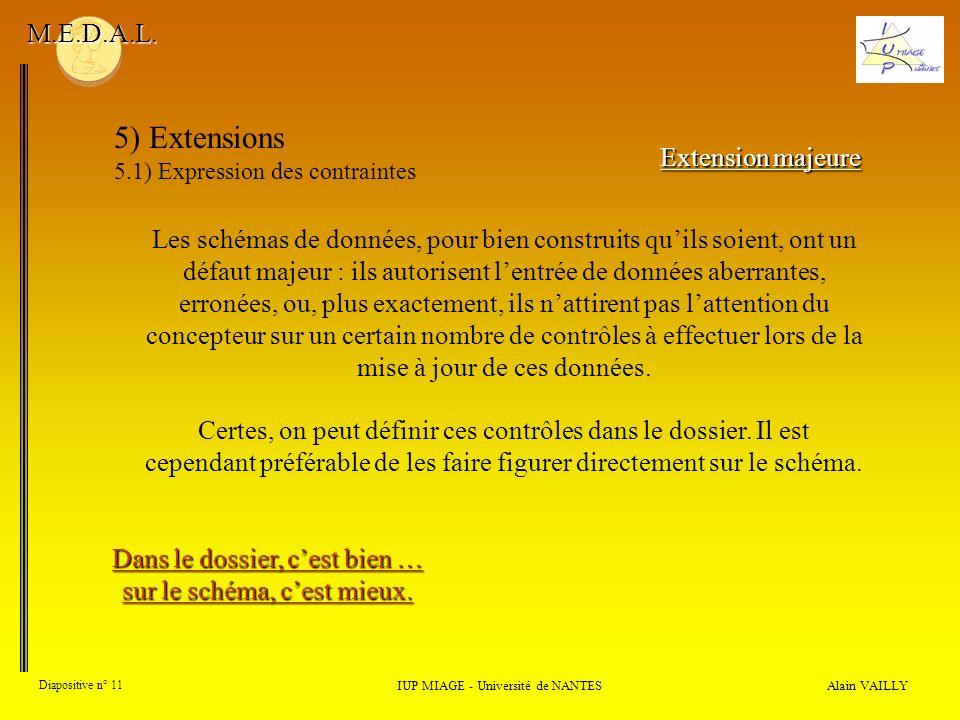 5) Extensions M.E.D.A.L. Extension majeure