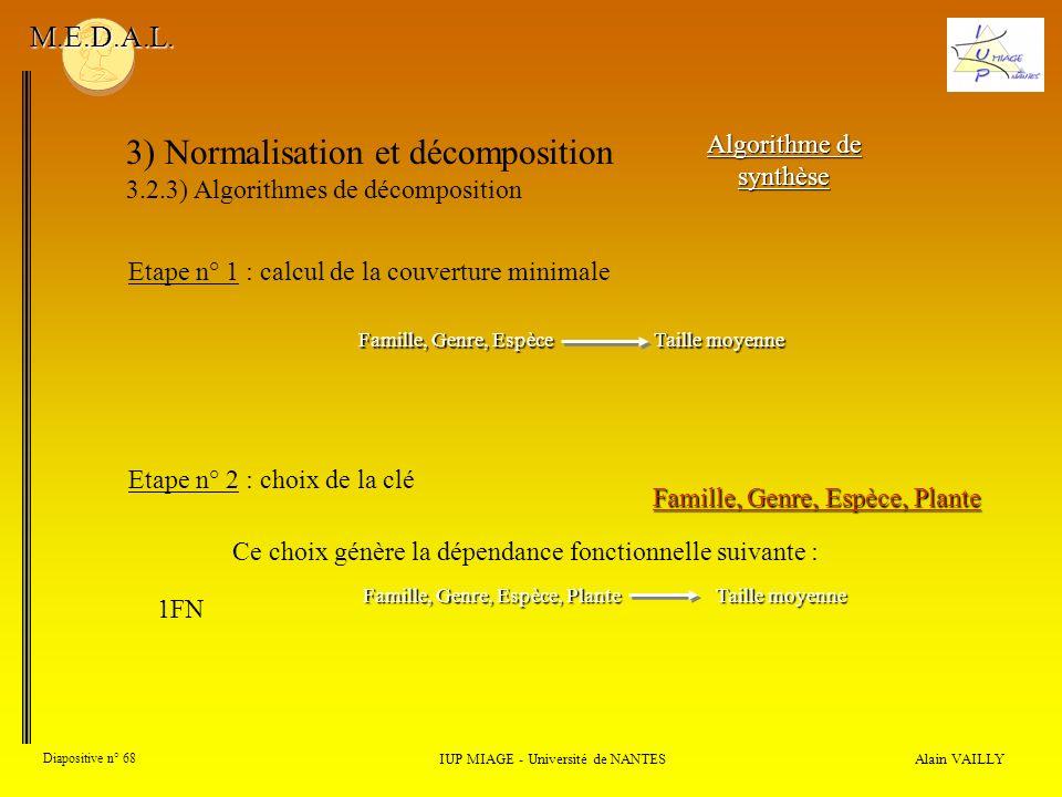 3) Normalisation et décomposition