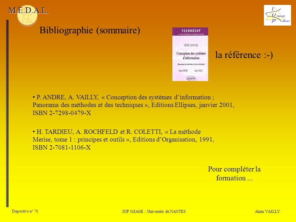 Bibliographie (sommaire)