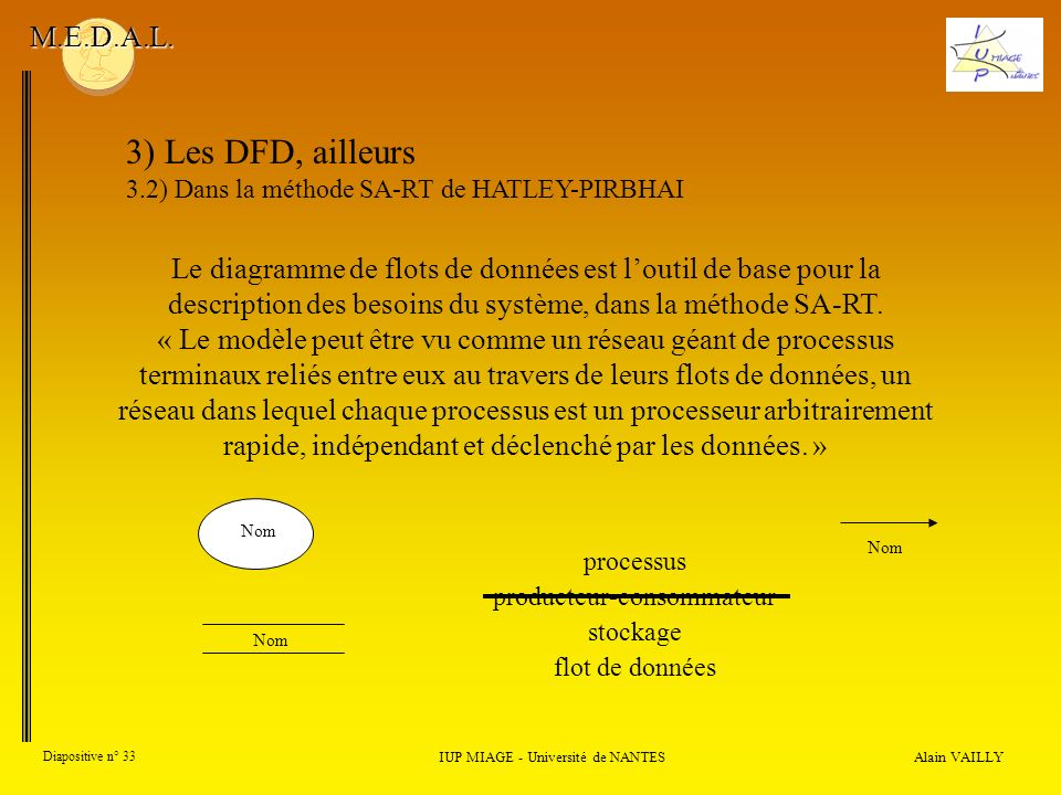 3) Les DFD, ailleurs M.E.D.A.L.