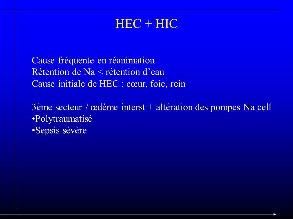 HEC + HIC Cause fréquente en réanimation