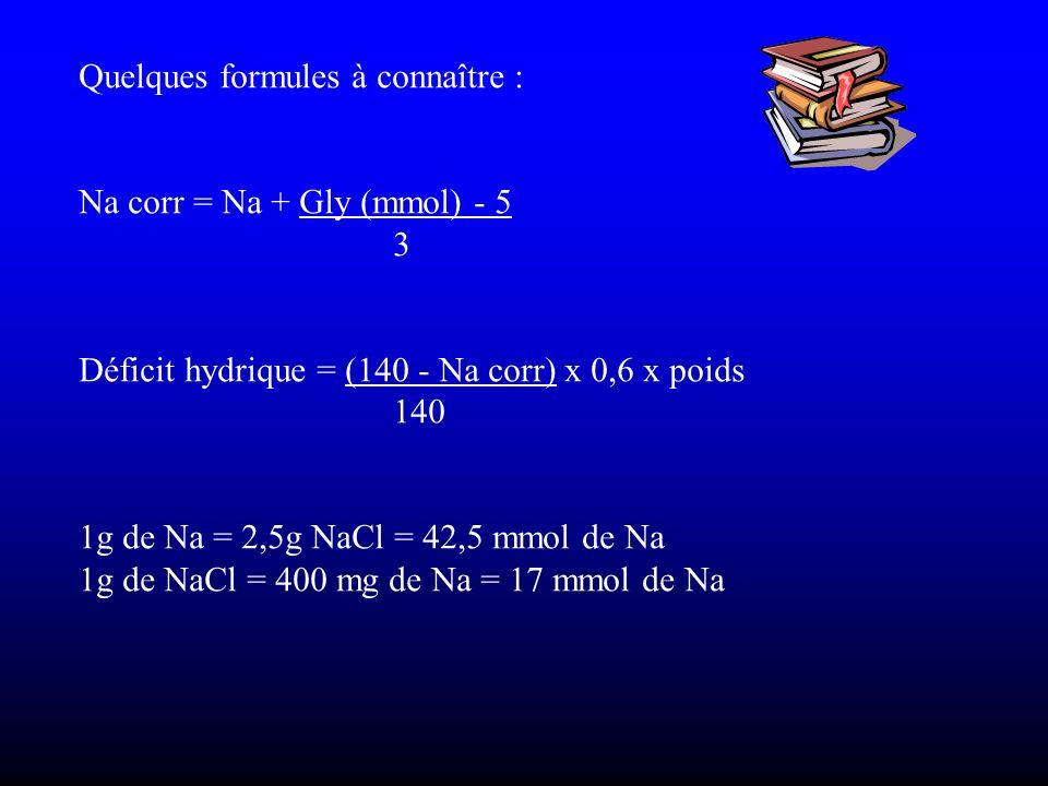 Quelques formules à connaître :