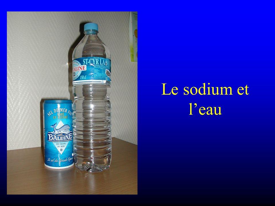 Le sodium et l'eau