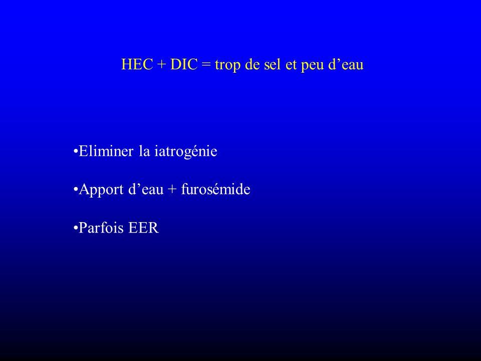 HEC + DIC = trop de sel et peu d'eau