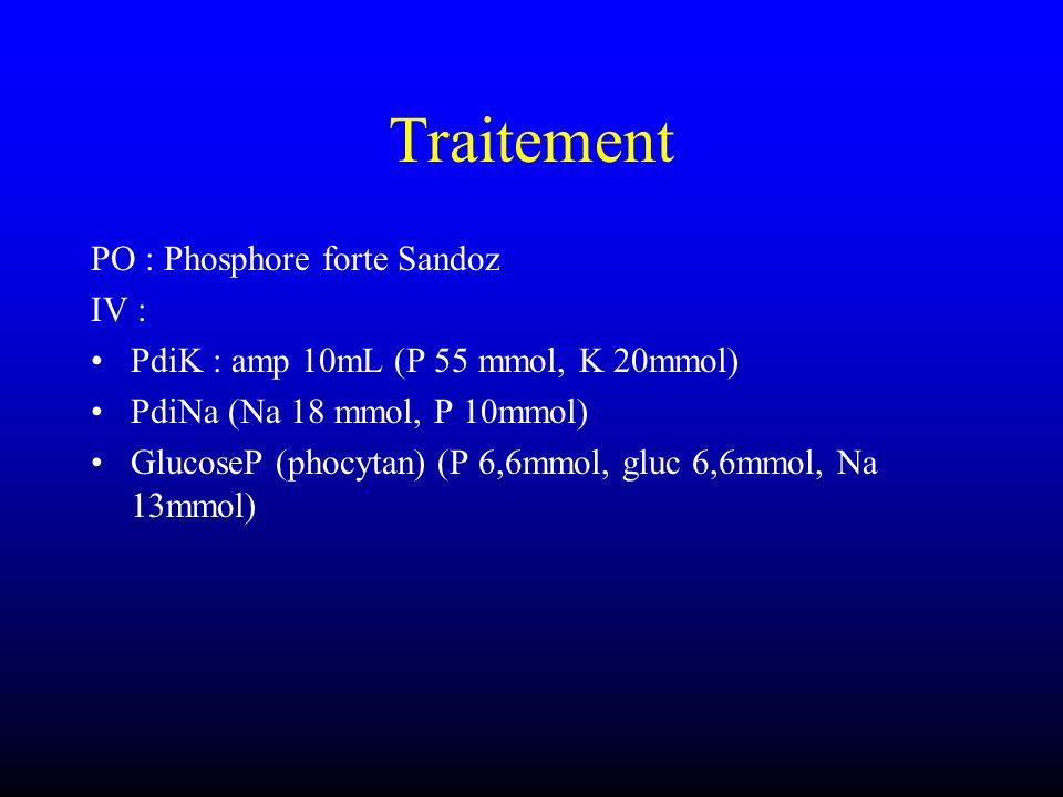 Traitement PO : Phosphore forte Sandoz IV :