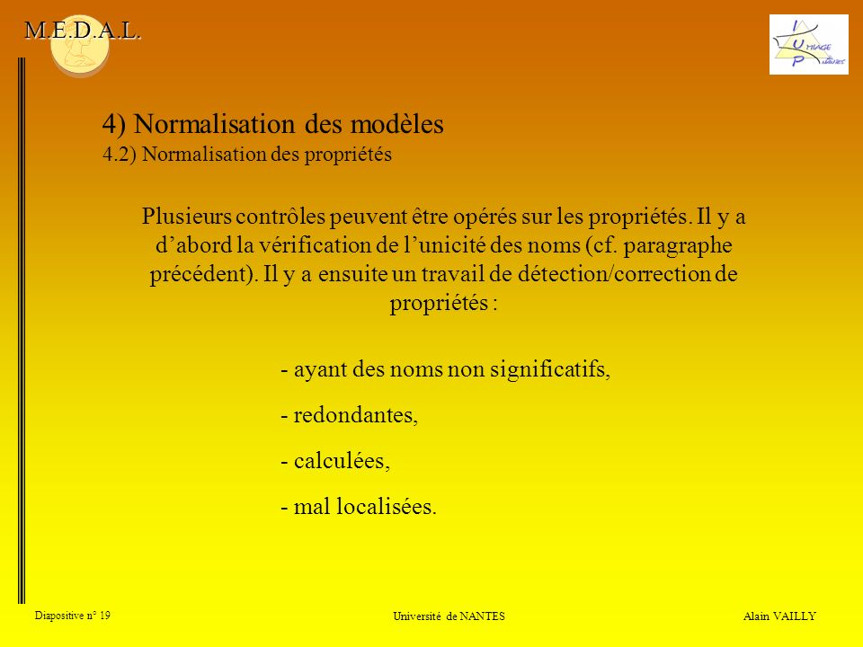4) Normalisation des modèles