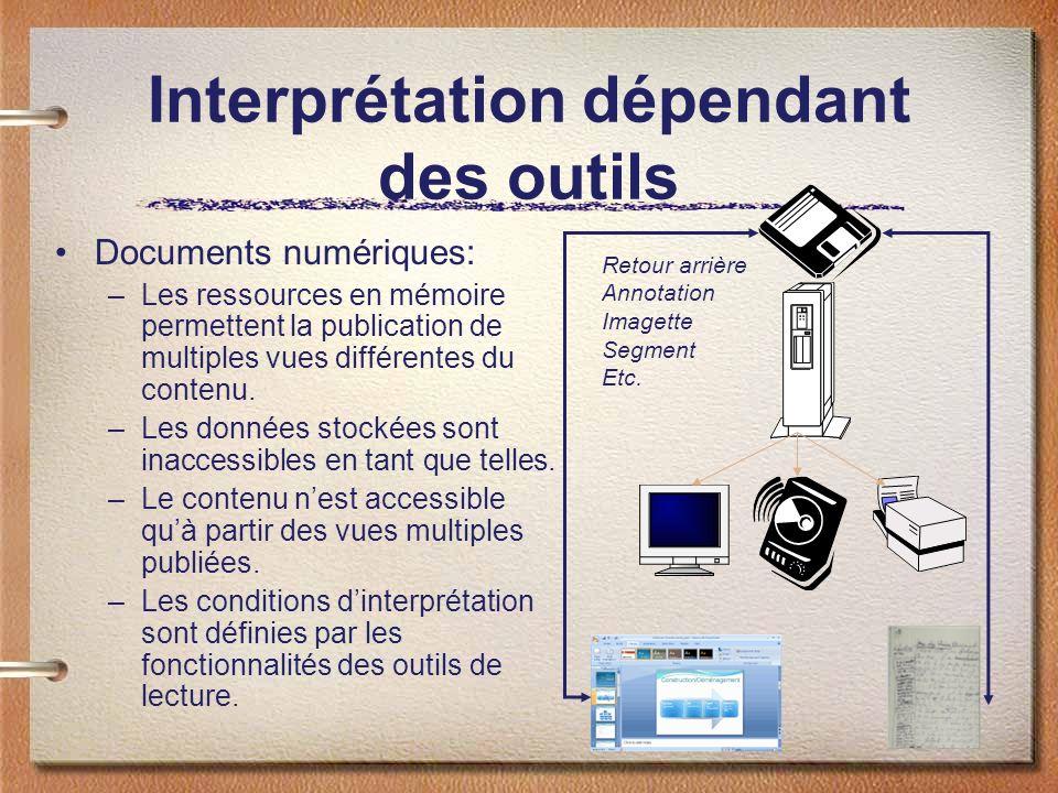 Interprétation dépendant des outils