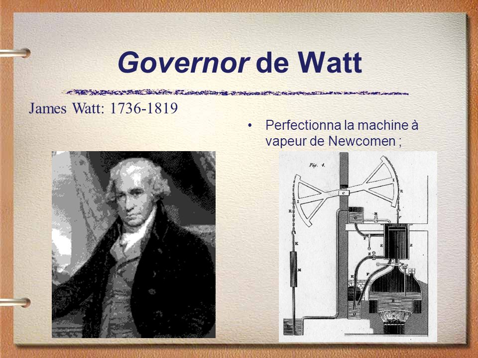 Governor de Watt James Watt: 1736-1819