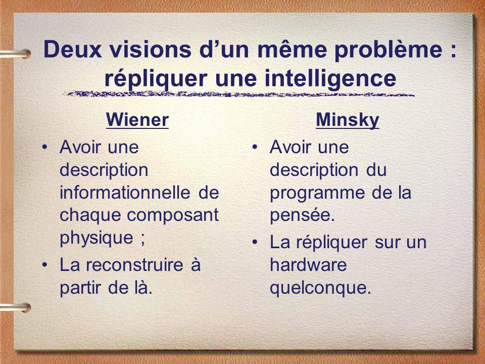 Deux visions d'un même problème : répliquer une intelligence
