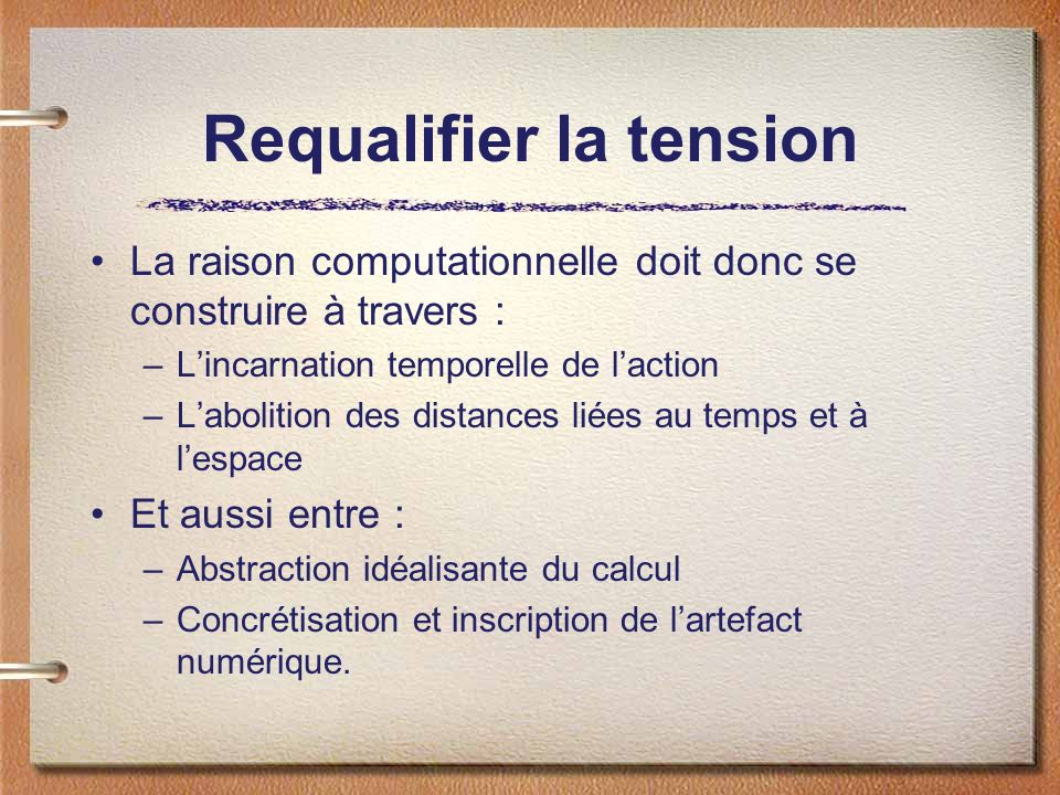 Requalifier la tension