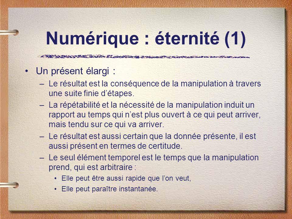 Numérique : éternité (1)