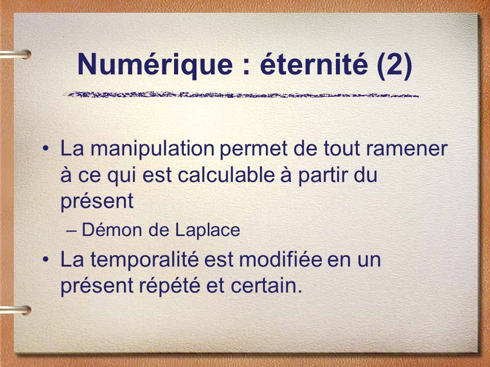 Numérique : éternité (2)