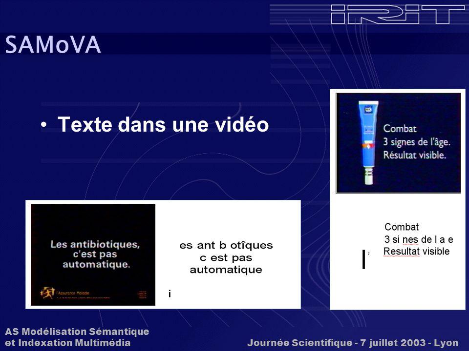 SAMoVA Texte dans une vidéo