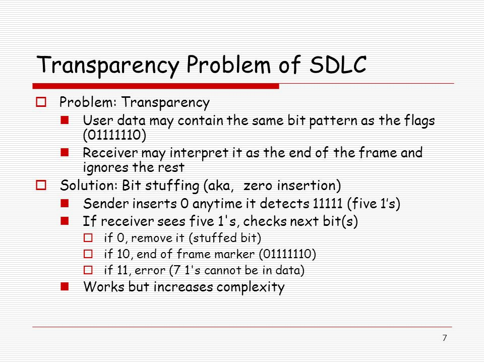Transparency Problem of SDLC