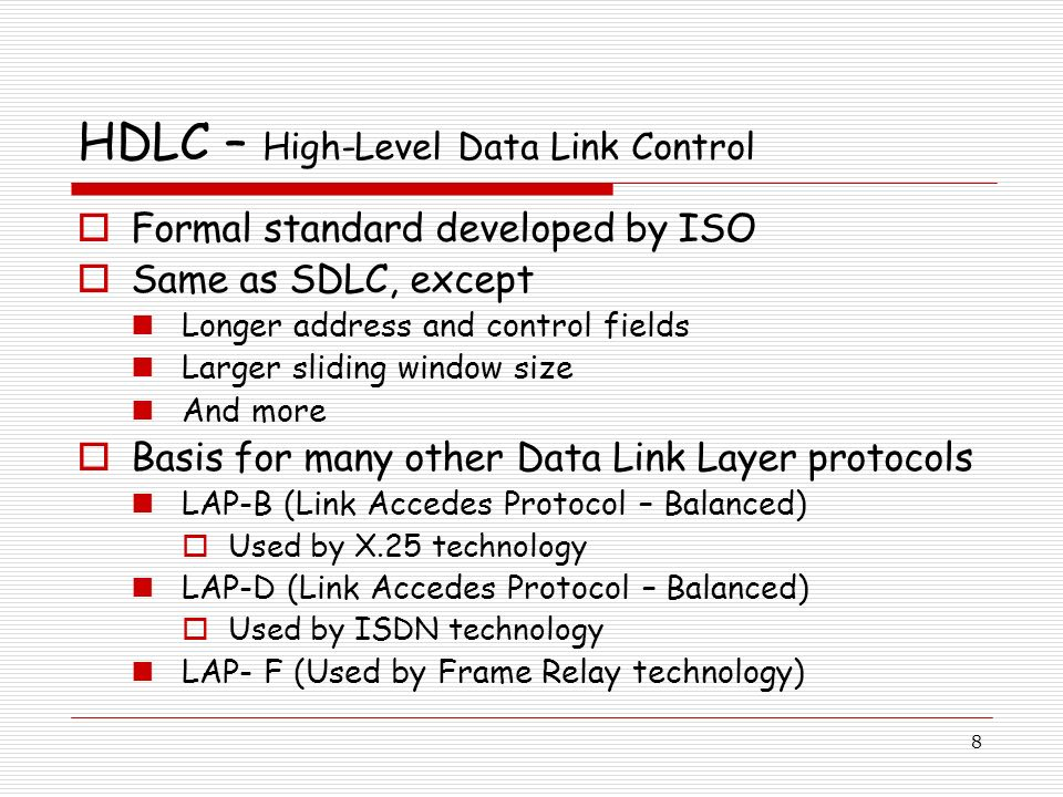 HDLC – High-Level Data Link Control