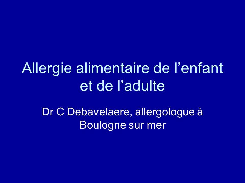 Allergie alimentaire de l'enfant et de l'adulte