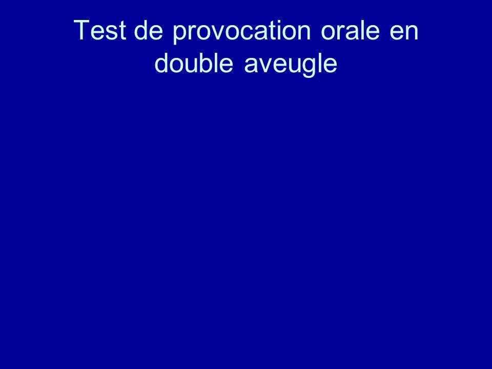 Test de provocation orale en double aveugle
