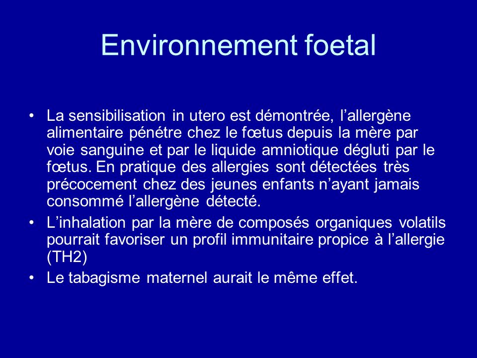 Environnement foetal