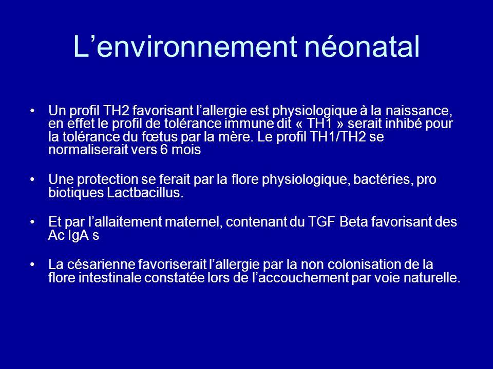 L'environnement néonatal