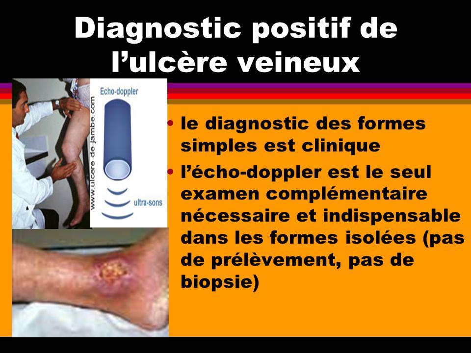 Diagnostic positif de l'ulcère veineux