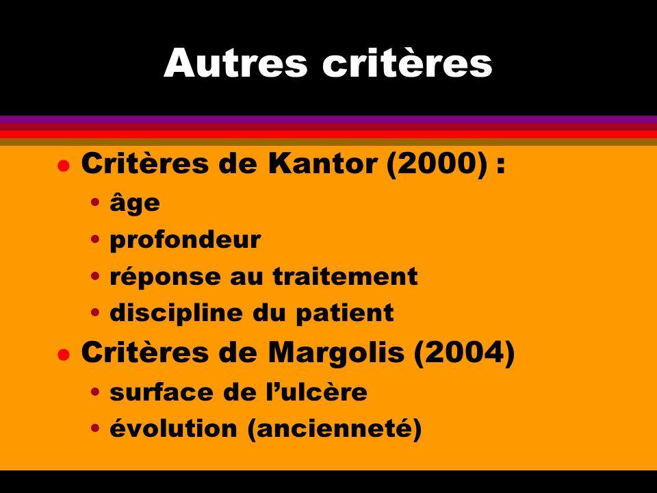 Autres critères Critères de Kantor (2000) :