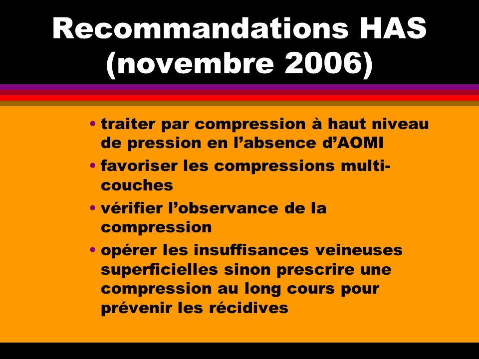 Recommandations HAS (novembre 2006)