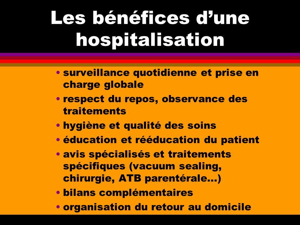 Les bénéfices d'une hospitalisation