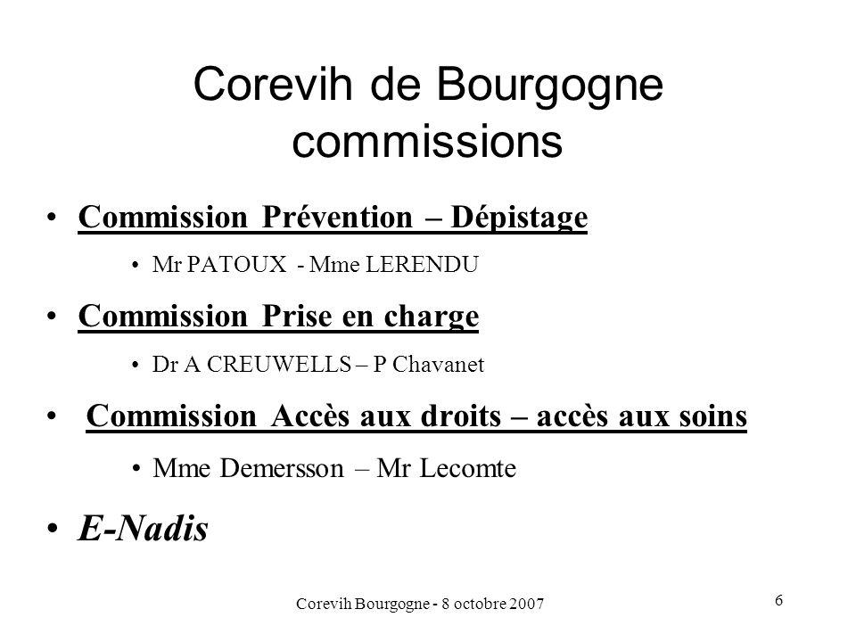 Corevih de Bourgogne commissions