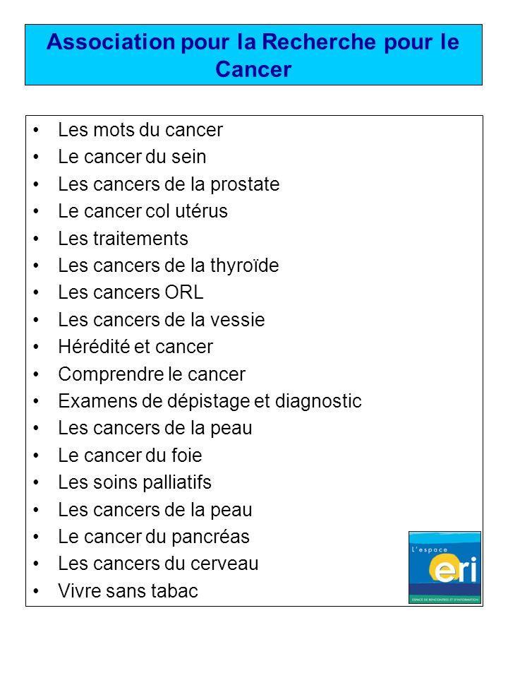 Association pour la Recherche pour le Cancer