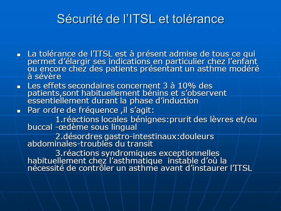 Sécurité de l'ITSL et tolérance