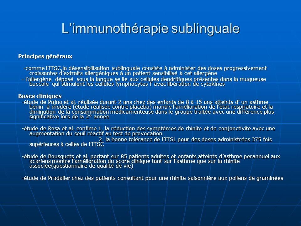 L'immunothérapie sublinguale