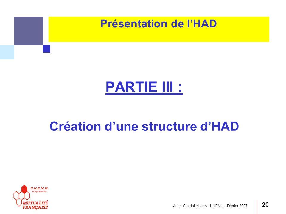 Création d'une structure d'HAD