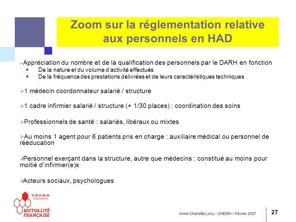 Zoom sur la réglementation relative aux personnels en HAD