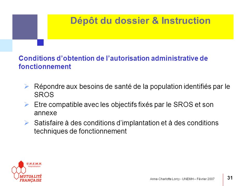 Dépôt du dossier & Instruction