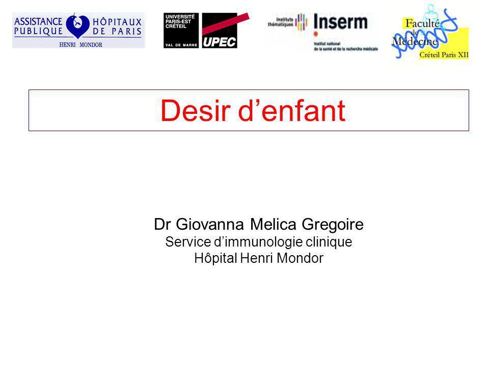 Desir d'enfant Dr Giovanna Melica Gregoire