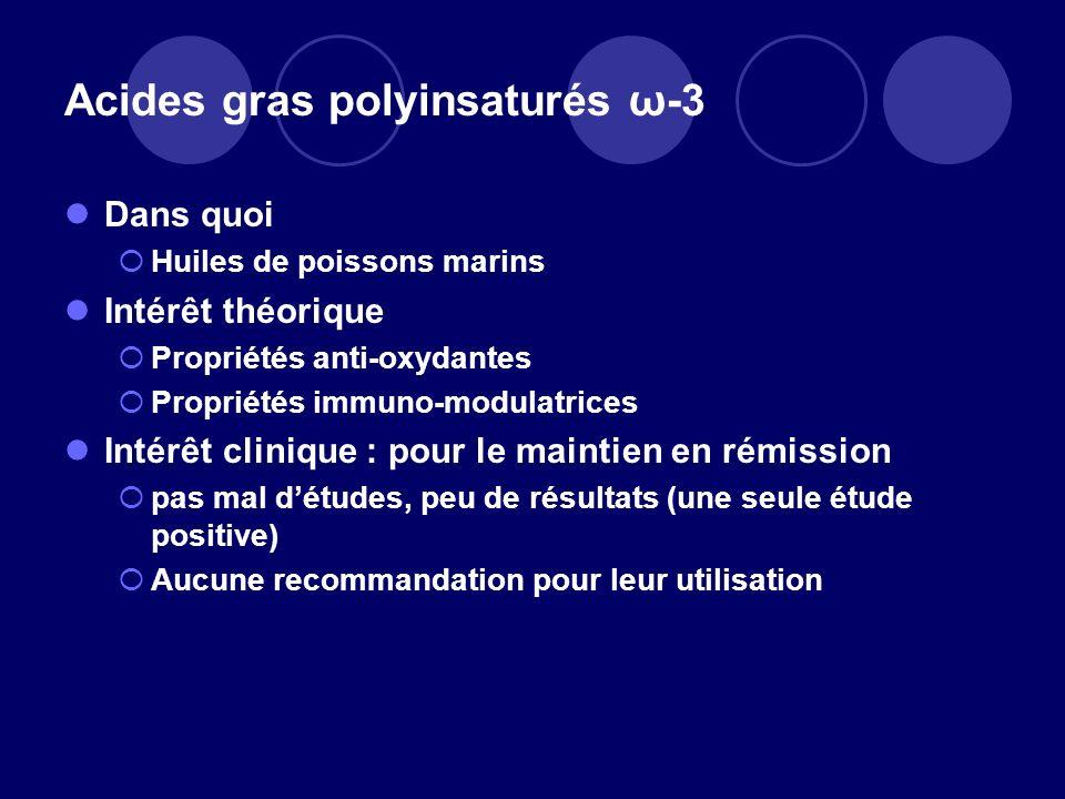 Acides gras polyinsaturés ω-3