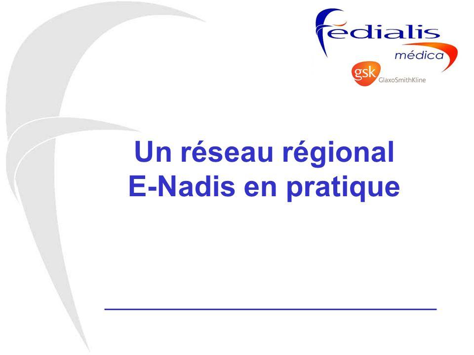 Un réseau régional E-Nadis en pratique