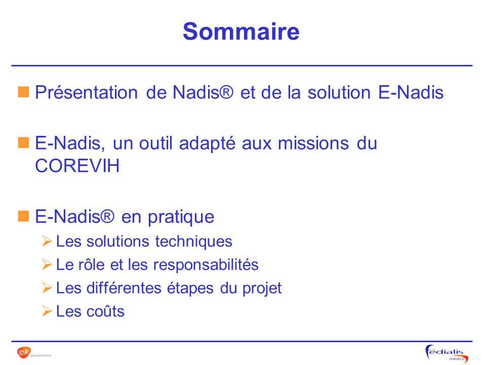 Sommaire Présentation de Nadis® et de la solution E-Nadis