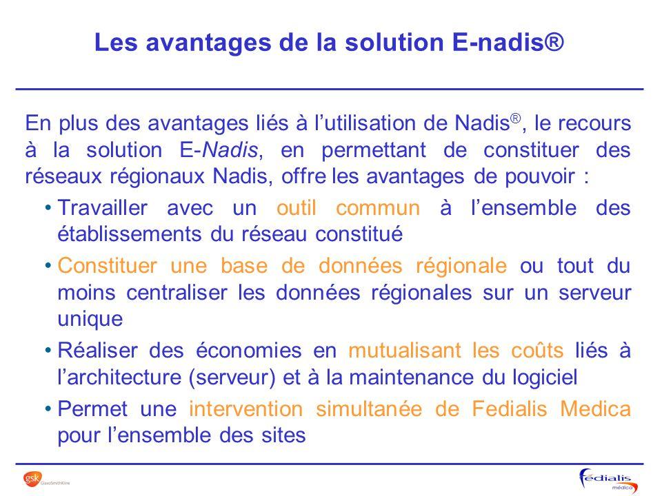 Les avantages de la solution E-nadis®