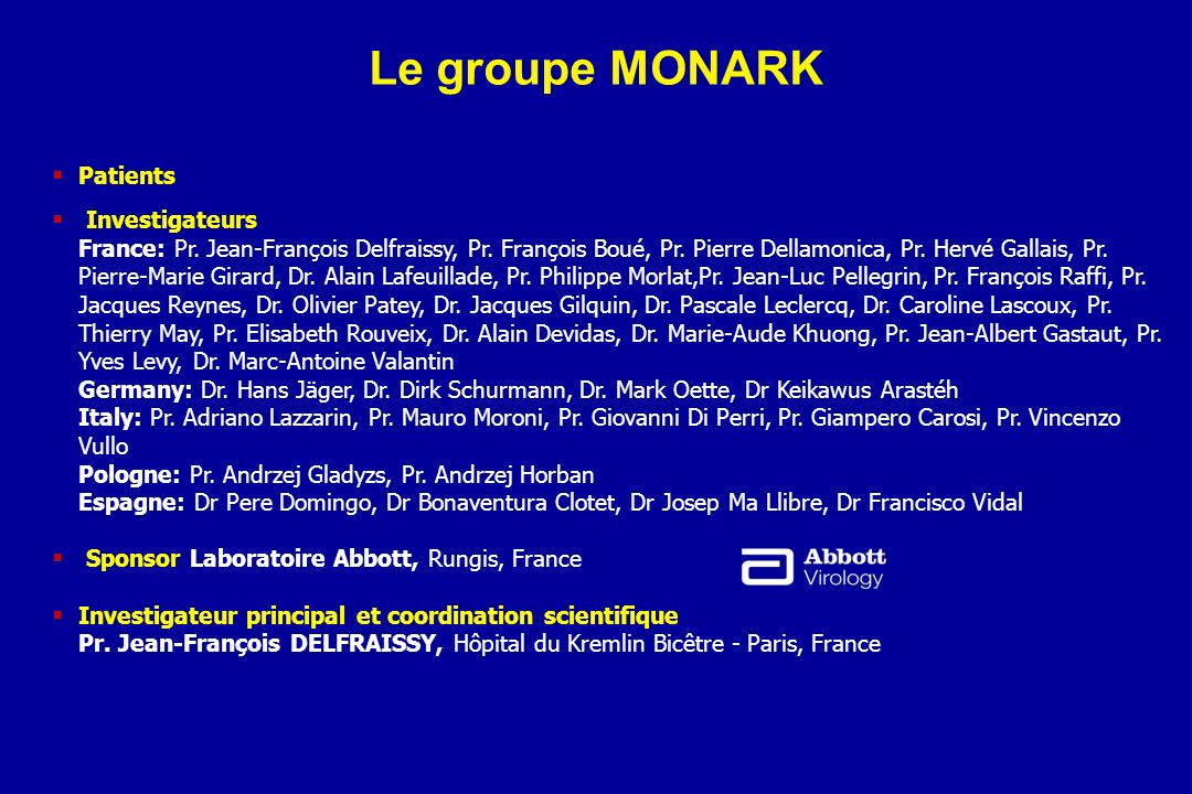Le groupe MONARK Patients Investigateurs