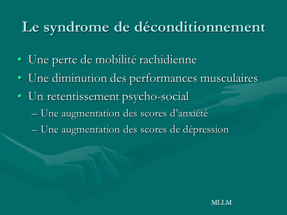 Le syndrome de déconditionnement