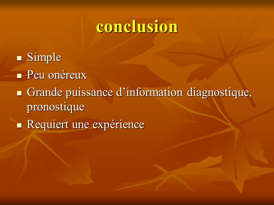 conclusion Simple Peu onéreux