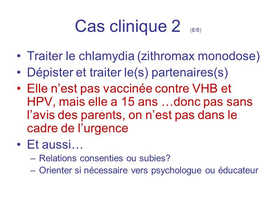Cas clinique 2 (6/6) Traiter le chlamydia (zithromax monodose)