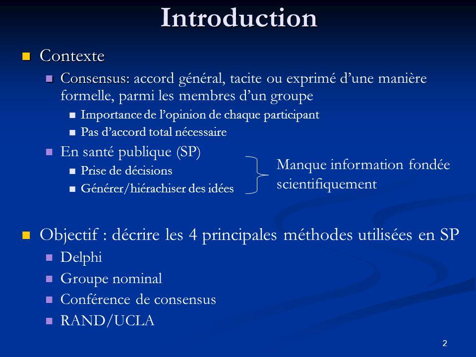 Introduction Contexte