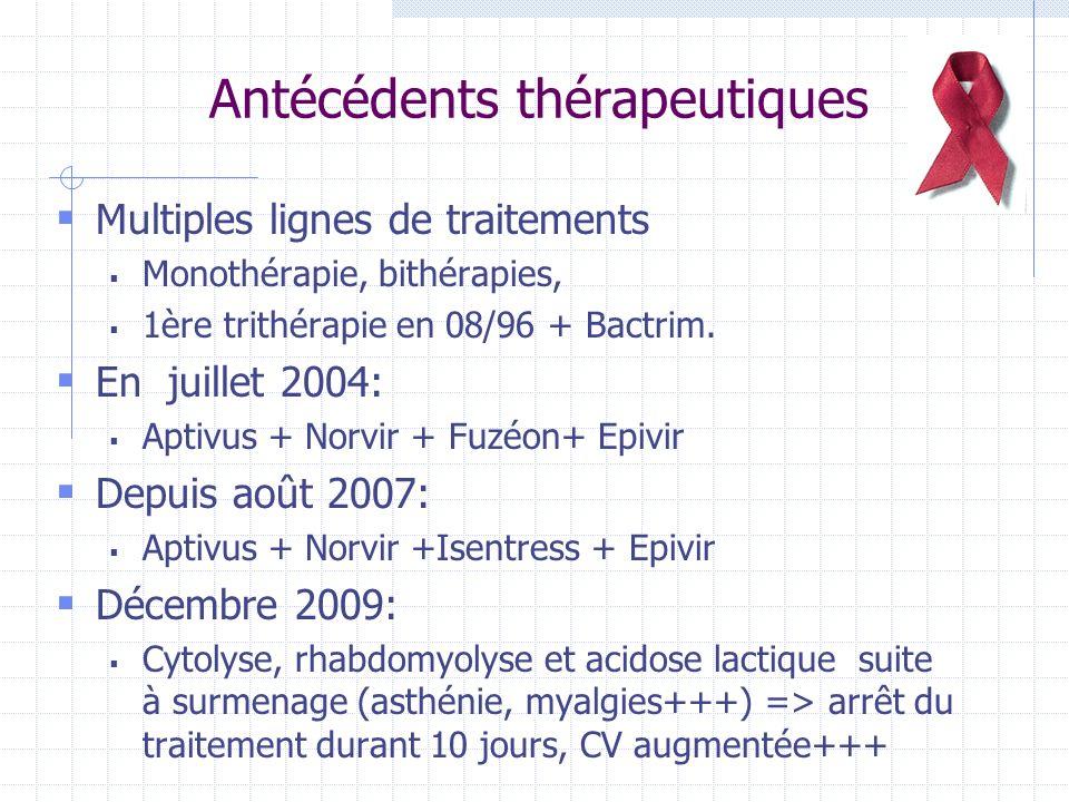 Antécédents thérapeutiques